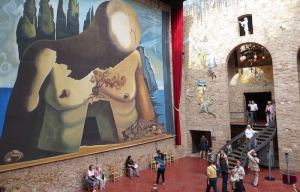 This morning I stumbled upon some of Dali works on the internet and this is how I ended up thinking about my dreams.  This picture was taken at his museum in Figueres, Spain and it is my favourite museum in the world.