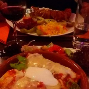 Enchiladas and kelbasa
